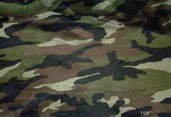 Camouflage Brown Green Tan 2 yd Fleece
