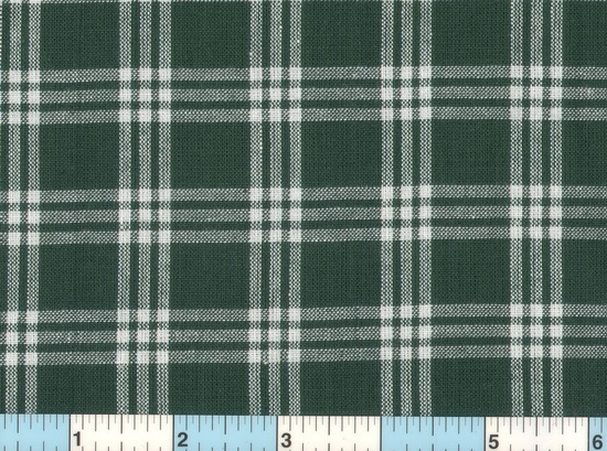 Green White Homespun Check