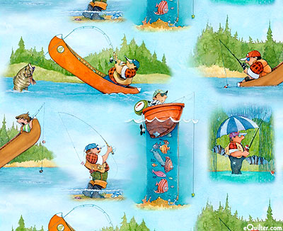 It's A Guy Thing Fishing Fun Fabric