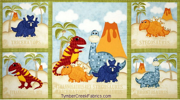 Have You Seen My Dinosauer Fabric Panel