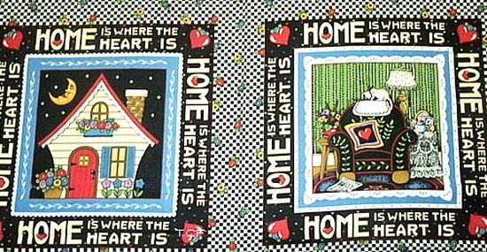 Home Is Where the Heart Fabric Panel <b> As-Is Short