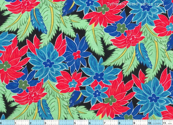 Island Floral Ferns Cotton Fabric