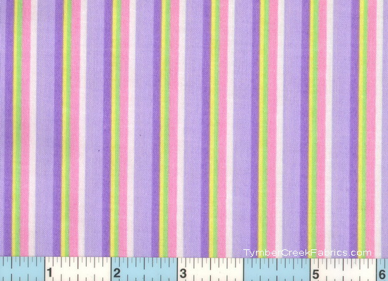 Lavender Purple Yellow Pink Stripe 2yds31""