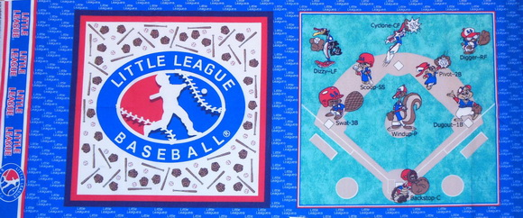 Little League Baseball Fabric 4 Panels