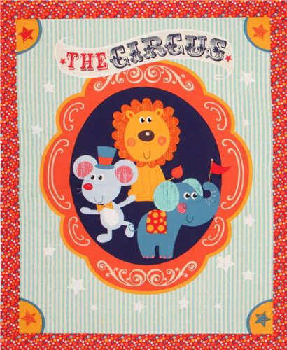 Little Red Circus Nursery Wall Panel
