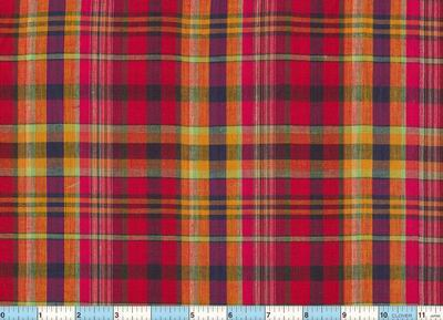 Madras Homespun Fabric 1yd29""
