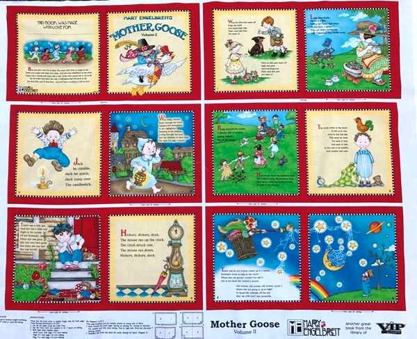 Mary Englebriet Mother Goose #2 Fabric Soft Book