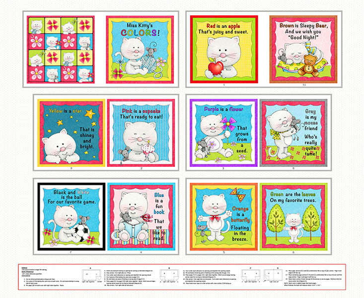 Miss Kitty's Colors Fabric Book