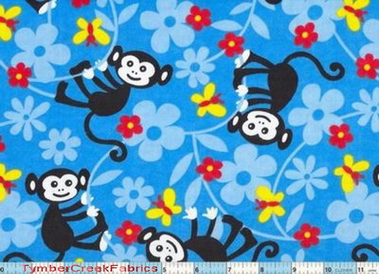 Swinging Monkey Flannel