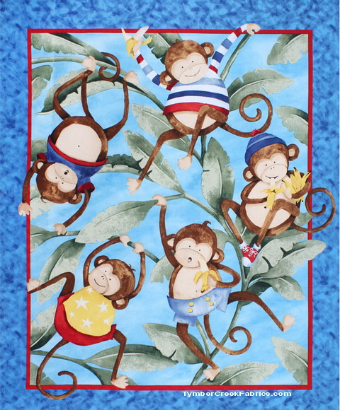Monkey Business Nursery Fabric Panel