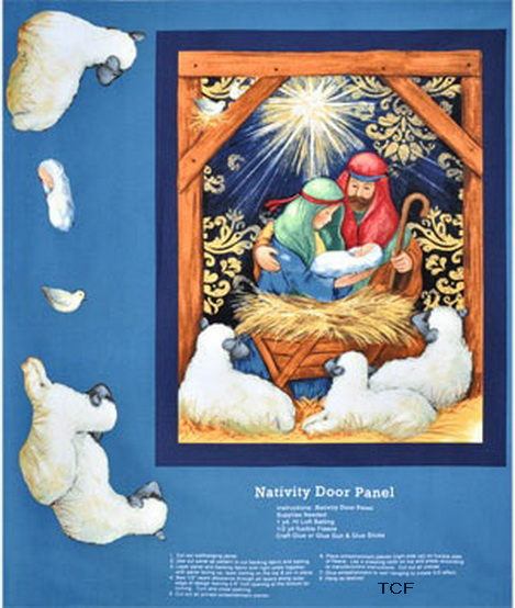 Nativity Christmas Door/Wall Fabric Panel