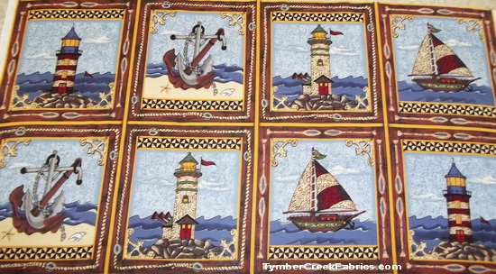 Nautical Sailing Ships Lighthouses Panels