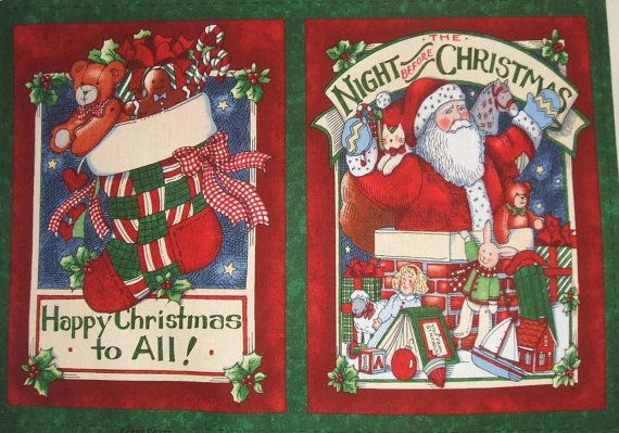 Night Before Christmas Fabric Soft Book
