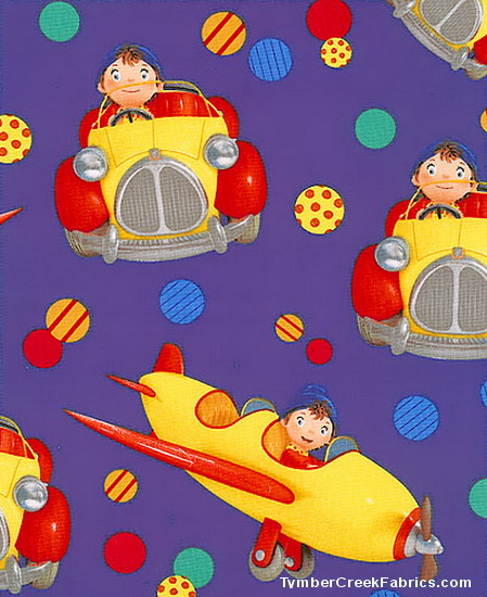 Noddy in Toyland Ride Along-Airplanes Fabric <font color=Red> SA