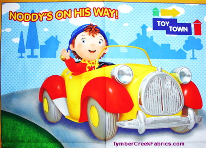 Noddy Toyland on Way Wall Fabric Panel <font color=Red> SALE