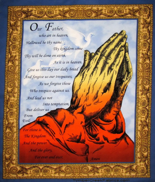 The Lords Prayer Religious Praying Hands Panel <font color=Red>