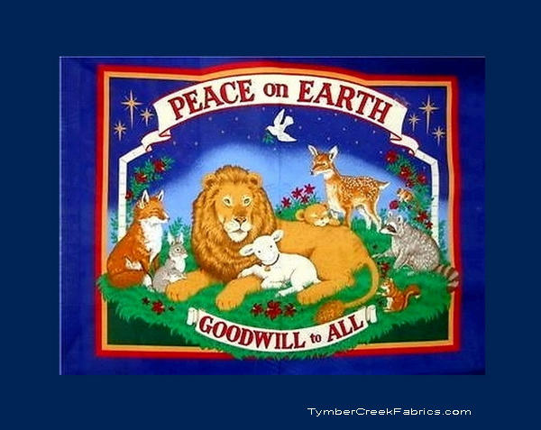 Peace on Earth Good Will to All Fabric Wall Panel