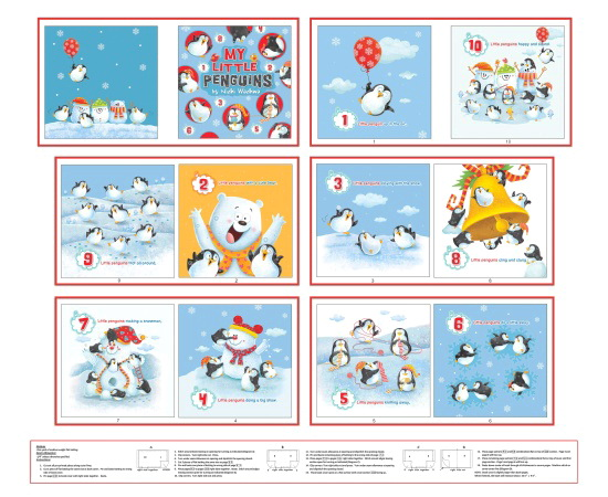 Penguin Parade Fabric Soft Book