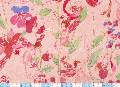 Pixie Floral Crystaline Wash Fabric