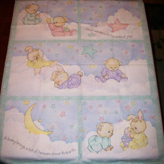 P J Friends Fabric Quilt/Wall Fabric Panel
