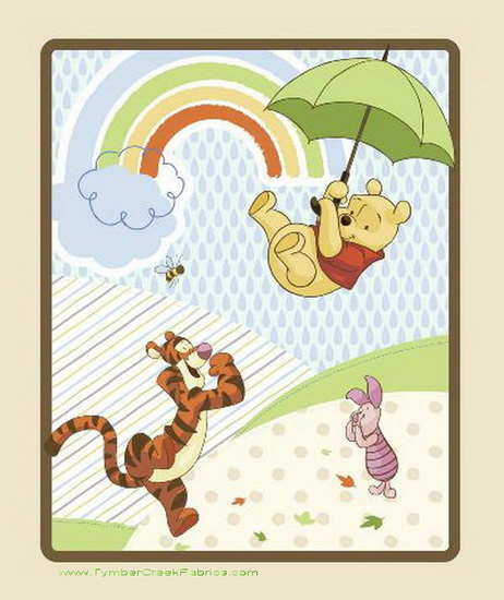 Winnie the Pooh Umbrella Nursery Quilt/Wall Panel