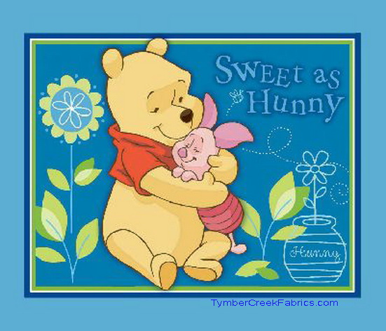 Winnie Pooh Sweet as Hunny Quilt Wall Fabric Panel