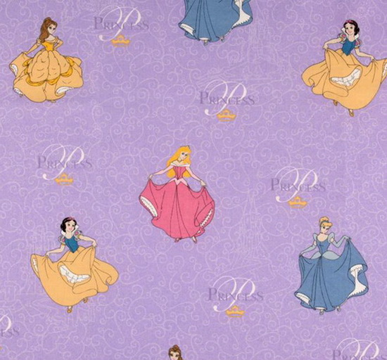 Princeses at the Ball Glitter Fabric