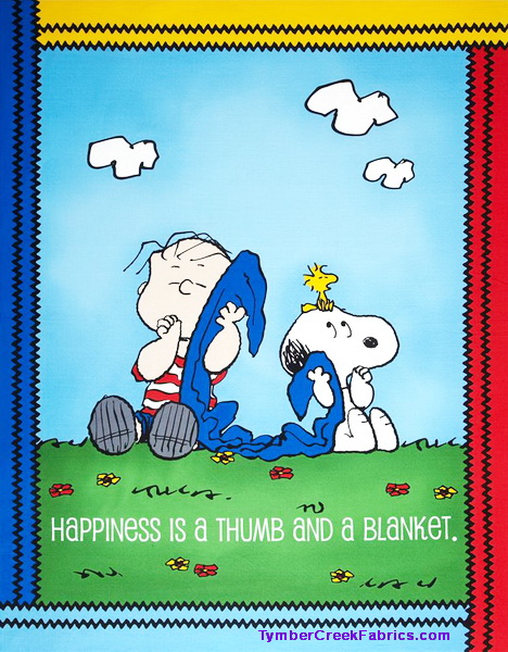 Peanuts Project Happiness is Fabric Panel