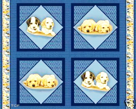 Puppy Love Dogs Fabric Panels