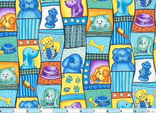 Puppy Time Toys Patches Dogs Fabric