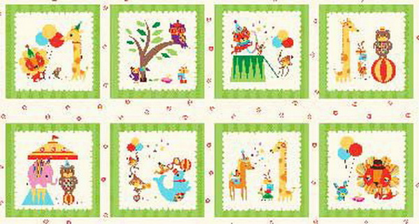 Rainboo Zoo Fabric Blocks