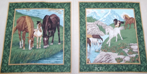 River Run Horses Pillow Panel