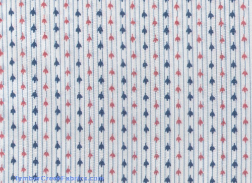 Red White Blue Small Flower Stripe