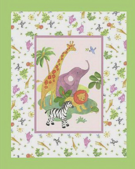 Safari Baby Nursery Panel