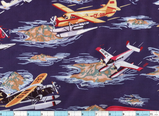 Seaplanes Amphibious Flying Boats Navy Fabric