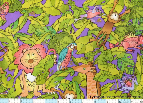 Silly Suggestions for Kids Jungle Tossed Fabric