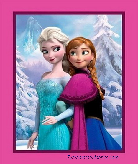 "Disney Frozen Sisters Snowy Scenic 36"" Wall Panel"