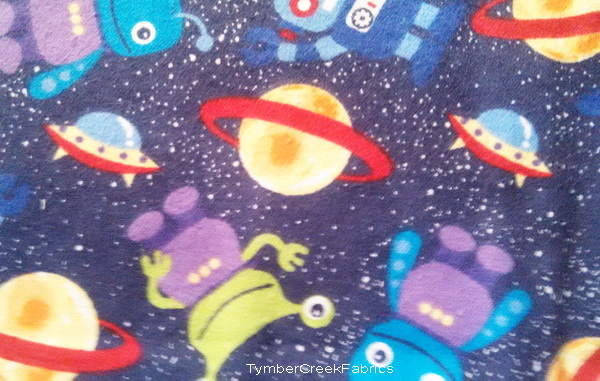 Fleece fabric baby fleece prints panels cotton flannel for Space flannel fabric