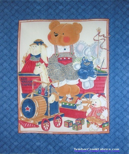 Teddy XPress Red Wagon Express Fabric Panel
