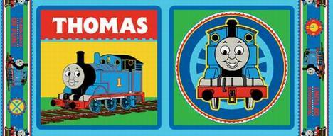 Thomas the Train Pillow Panels
