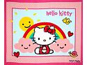Hello Kitty Rain Shine Quilt Fabric Panel <font color=Red> SALE
