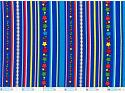 Blue Stripes - Red Green Stars