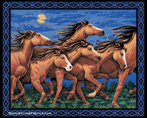 Horses of Thunder Ridge Wall Panel