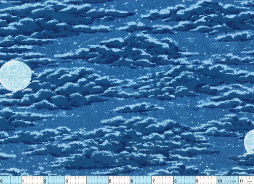Thunder Ridge Moon Cloud Cotton Fabric