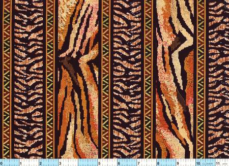 Striking Tiger Stripe Fabric