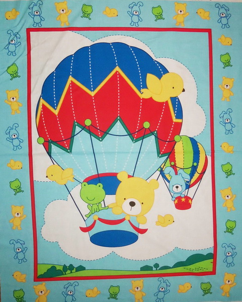 Up Up & Away Blue Fabric Panel <font color=red>SALE