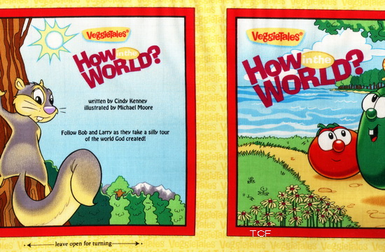 Veggie Tales How In The World Fabric Soft Book <font color=Red>