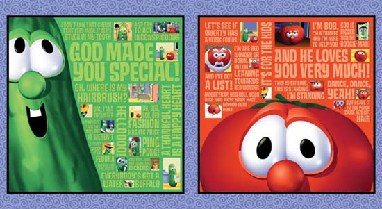 Veggie Tales Bob and Larry Pillow Panels