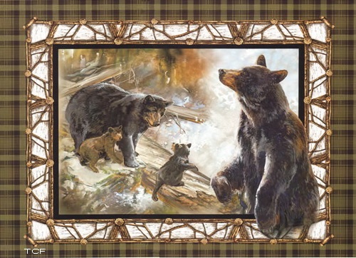 Bears All In The Family Wall Fabric Panel