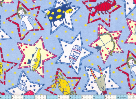 Zodiac Stars Flannel Fabric